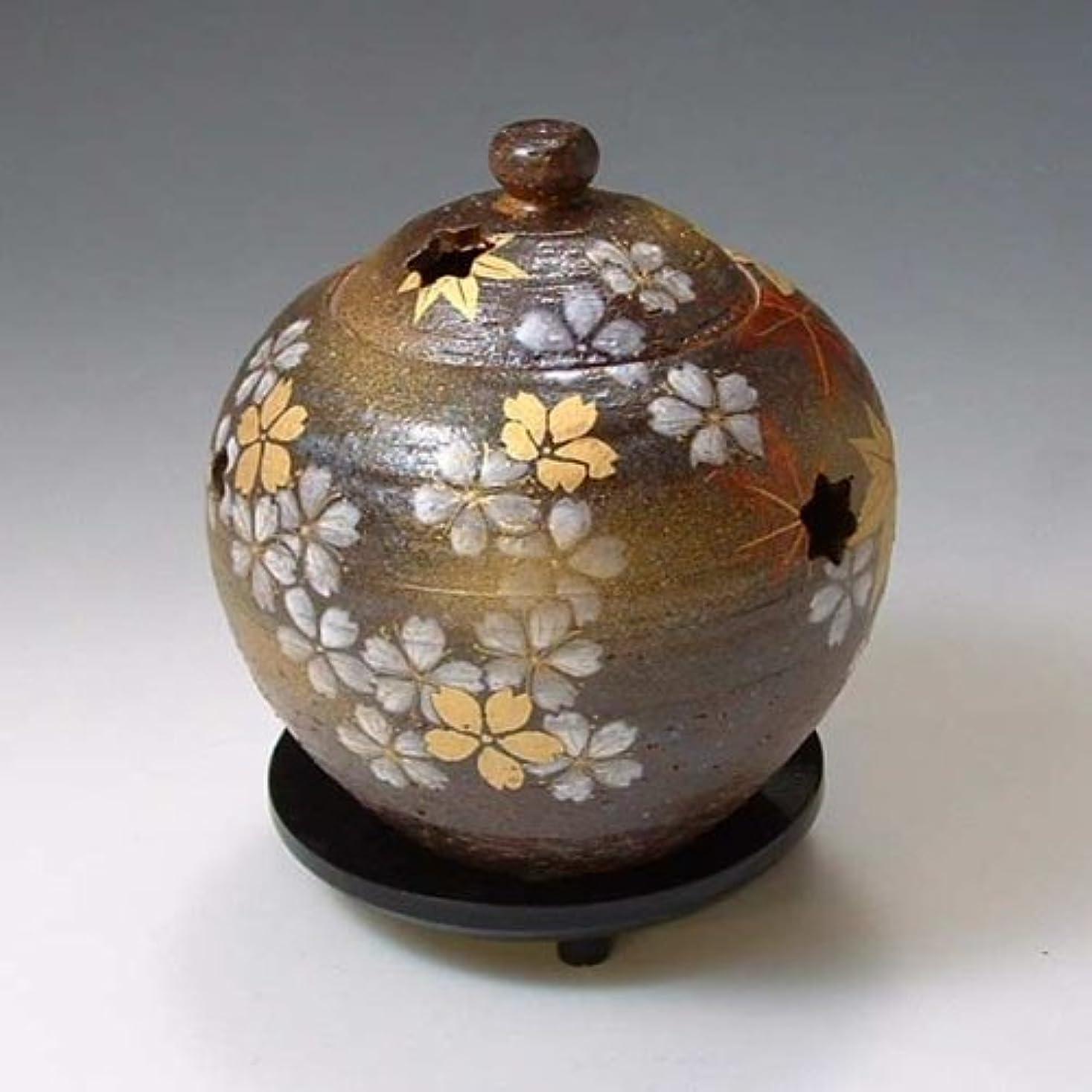 詳細な印をつける見つける京焼 清水焼 香炉(黒台付) 雅 みやび YTS160