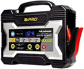 OMEGA PRO (オメガ・プロ) バッテリー充電器 12V専用 【マイコン制御 全自動パルス充電器】 OP-BC02