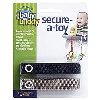 Baby Buddy(ベビーバディ) Secure-A-Toy 2ct おもちゃストラップ2色各1本組 ブラック/タン 2本