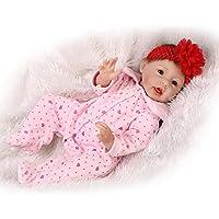 Look RealソフトシリコンReborn Girls人形22インチベビー人形Lifelikeベビー人形Children Gifts