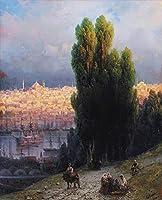 手描き-キャンバスの油絵 - constantinople 1880 ロマンチック Ivan Aivazovsky Russian 芸術 作品 洋画 ウォールアートデコレーション -サイズ04