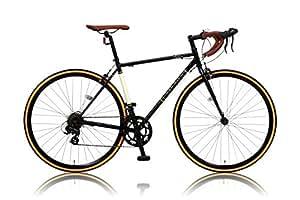 カノーバー クラシック ロードバイク 700C シマノ14段変速 CAR-013 (ORPHEUS) クロモリフレーム フロントLEDライト付 ブラック