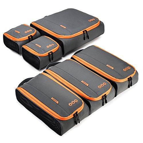 (バッグスマート)BAGSMART トラベルポーチ 6点セット 衣類収納ケース アレンジケース 出張ケース 大容量 旅行ケース 整理整頓 便利グッズ トラベルケース