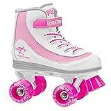 ローラーダービー1978–01Youth Girls Firestarローラースケート、サイズ1、ホワイト/ピンクby Roller Derby