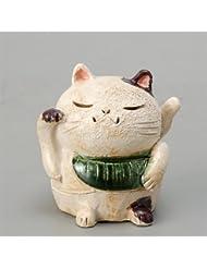 香炉 白萩 招き猫(お金)香炉(小) [H8cm] HANDMADE プレゼント ギフト 和食器 かわいい インテリア