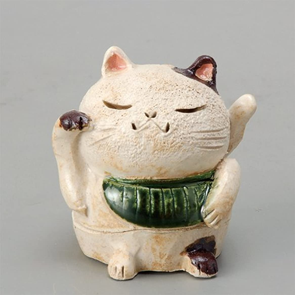 せがむ疾患ナラーバー香炉 白萩 招き猫(お金)香炉(小) [H8cm] HANDMADE プレゼント ギフト 和食器 かわいい インテリア
