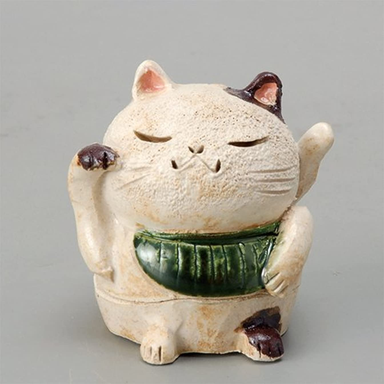 ばかげたどっちでも食器棚香炉 白萩 招き猫(お金)香炉(小) [H8cm] HANDMADE プレゼント ギフト 和食器 かわいい インテリア