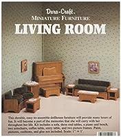 [デュラクラフト]Duracraft Miniature Dollhouse Living Room Furniture LR20 [並行輸入品]