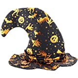ハロウィン仮装パーティードレスアップ魔女の帽子ティップキャップコスプレパーティーの装飾-A1