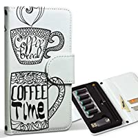 スマコレ ploom TECH プルームテック 専用 レザーケース 手帳型 タバコ ケース カバー 合皮 ケース カバー 収納 プルームケース デザイン 革 コーヒー 英語 カフェ 014261