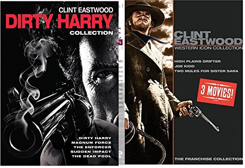 Clint Eastwood Collection Western + The Dirty Harry Complete Series Enforcer / Gauntlet / Deadpool / Magnum Force /