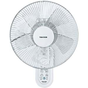 TEKNOS 30cm壁掛けフルリモコン扇風機 ホワイト KI-W279R