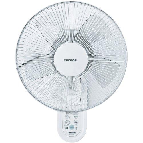 TEKNOS 30cm壁掛けフルリモコン扇風機 ホワイト K...