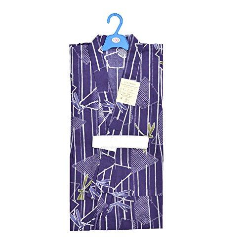 (ここち) 男の子 浴衣 108BC 縞トンボ2014 9~10才 130cm 03 紫