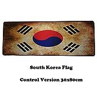 AURORBOY ビンテージ 大型ゲーム用マウスパッド 滑り止め プレーン 拡張 英国 韓国国旗 ゲーム用マウスパッド ゲーマー デスクマット Csgo Overwatch Dota2用