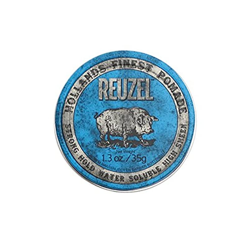酸素軽く深いルーゾー REUZEL STRONG HOLD HIGH SHEEN ストロングホールド ブルー 35g