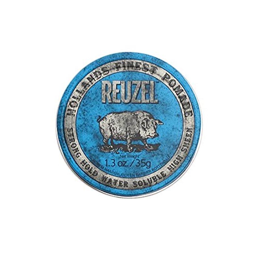 写真撮影バンガローダイバールーゾー REUZEL STRONG HOLD HIGH SHEEN ストロングホールド ブルー 35g