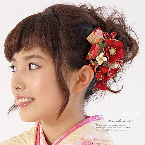 髪飾り2点セット花和柄リボン成人式振袖卒業式袴着物和装