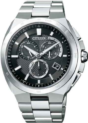 [シチズン]CITIZEN 腕時計 ATTESA アテッサ Eco-Drive エコ・ドライブ 電波時計 クロノグラフ AT3010-55E メンズ