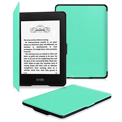 Fintie Kindle Paperwhite ケース 超薄 軽量 保護カバー オートスリープ機能付き (2016 NEW-Kindle Paperwhiteマンガモデル と 2012, 2013, 2015バージョン適応)(ミントグリーン)