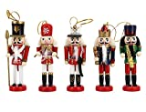 Novia 's Choice音楽バンドくるみ割りSoldiers木製パペットクリスマスオーナメントホーム装飾クリスマスギフト5点セットクリスマスギフト