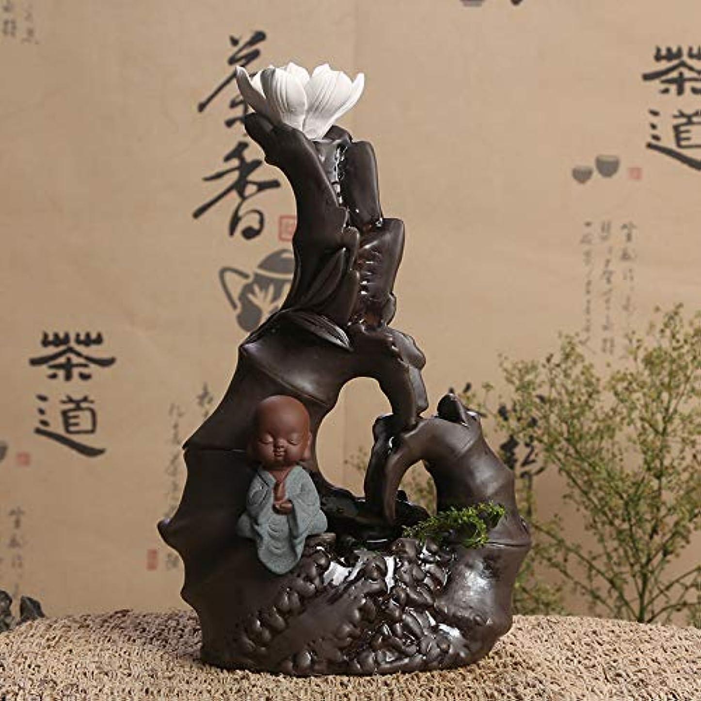 ミュウミュウ禁止言うレトロ手作りセラミック逆流バーナー装飾ホームリフロー香炉ホームデコレーション16 * 25センチ