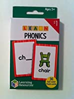 """Learning Resources - Learn Phonics Flash Cards"" Ages 5+ (36) full-colour cards"