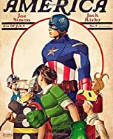Notebook: The First Avenger Captain America Fantastic Incredible Drawing Photo Art  Marvel Comic Universe Soft Glossy Wide Ruled Notebook with Ruled Lined Paper for Taking Notes Writing Workbook for Teens and Children Students School Kids
