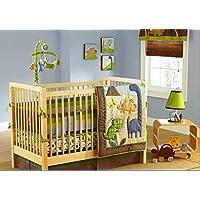 MD Baby Boy Dinosaur 7 Pieces Nursery Crib Bedding Set with Bumper [並行輸入品]