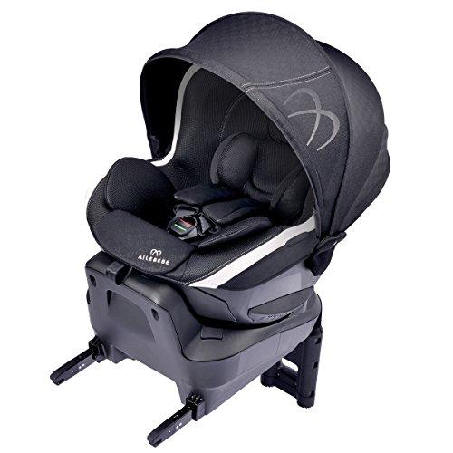 カーメイト エールベベ クルット3i プレミアム2 新生児から4歳用チャイルドシート ISOFIX取付(360度 サイレントターン/らくのせフラットシート/ワイドサンシェード) アッシュブラック BF8404