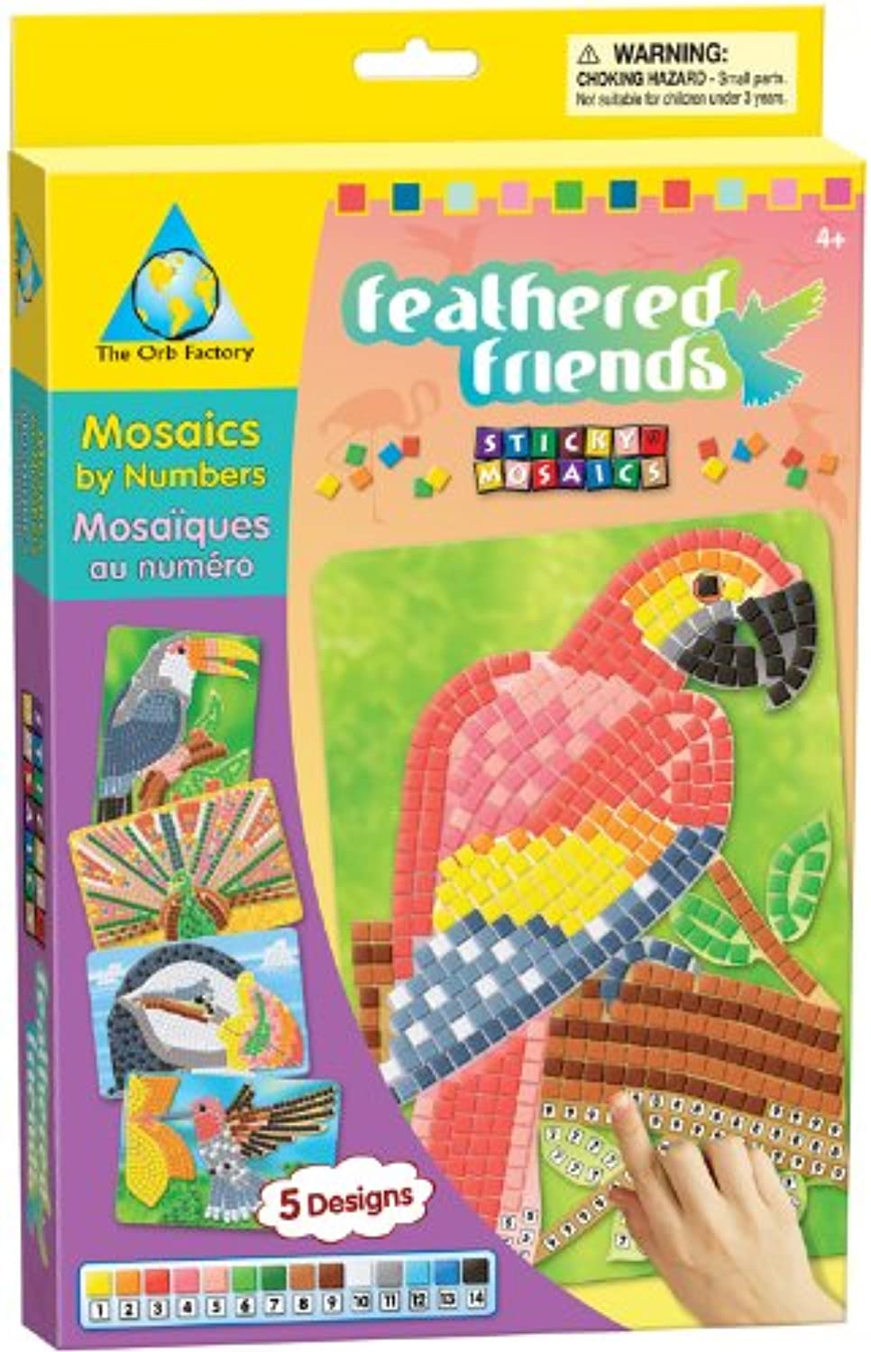 Sticky Mosaics Feathered Friends by The Orb Factory ( 62477 ) [おもちゃ]