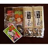 <送料無料>秋田漬物美人&国産小麦粉使用稲庭うどん、つゆ付