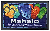 KC HAWAII ハワイアン雑貨 トロピカル 玄関マットドアマット (マハロ) ハワイ雑貨