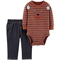 Carter's Baby Boys Striped Bear Bodysuit Set