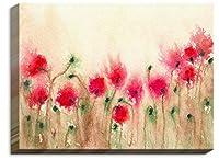 DIANOCHEキャンバス壁アートフレームとUnframed by BrazenデザインStudio Field of Poppies–Unique、装飾、芸術的、Designer 16 x 12 CAN-BrazenDesignFieldofPop2