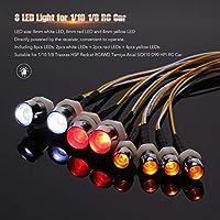 FidgetGear 8 LEDライトキット2白2赤4黄1/10 Traxxas Redcat RC4WD RCカーK3E5用