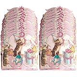 パンチスタジオ (24個パック ペーパークラウンハット 楽しいパーティーギフト 男の子または女の子 子供 誕生日パーティー用品 ピンク 42386