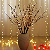 FHSBH LED Willow Branch Lamp Battery Powered Decorative Lights Tall Vase Filler Willow Twig Lighted Branch for Home Decoratio