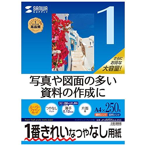 サンワサプライ インクジェット用紙 A4 250枚 JP-EM5NA4-250