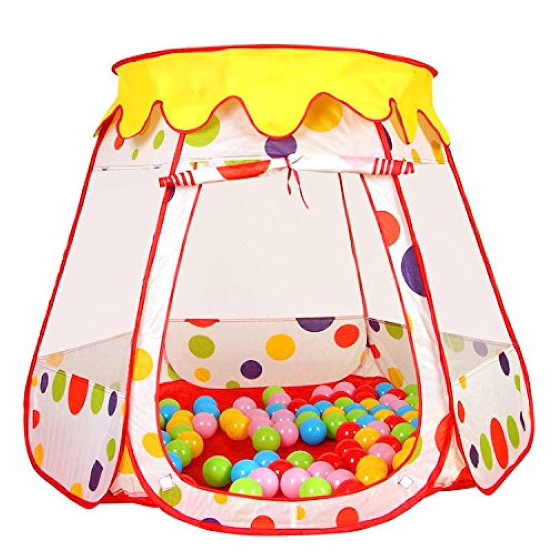 topjin折りたたみ式インドアアウトドアポップアップ再生再生テントハウスボールプール人形House for Kids