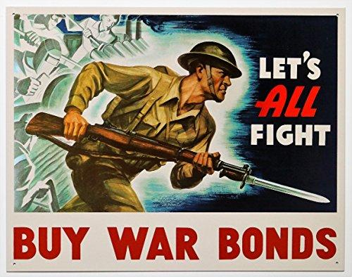 アメリカ陸軍の兵士★戦時国債を買おう!!・BUY WAR BONDS★アメリカンブリキ看板
