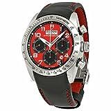 Tudor チューダー Fastrider ドゥカティ 赤 ダイヤル クロノグラフ ブラック 革 メンズ 時計 42000 D ドク