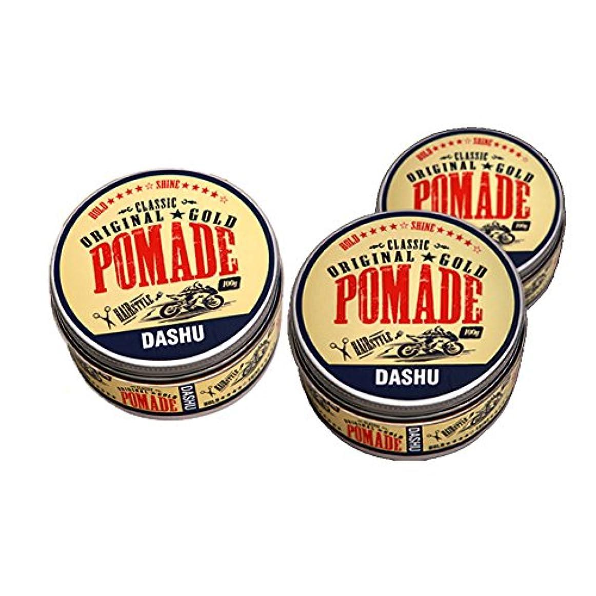 試すメディア何でも(3個セット) x [DASHU] ダシュ クラシックオリジナルゴールドポマードヘアワックス Classic Original Gold Pomade Hair Wax 100ml / 韓国製 . 韓国直送品