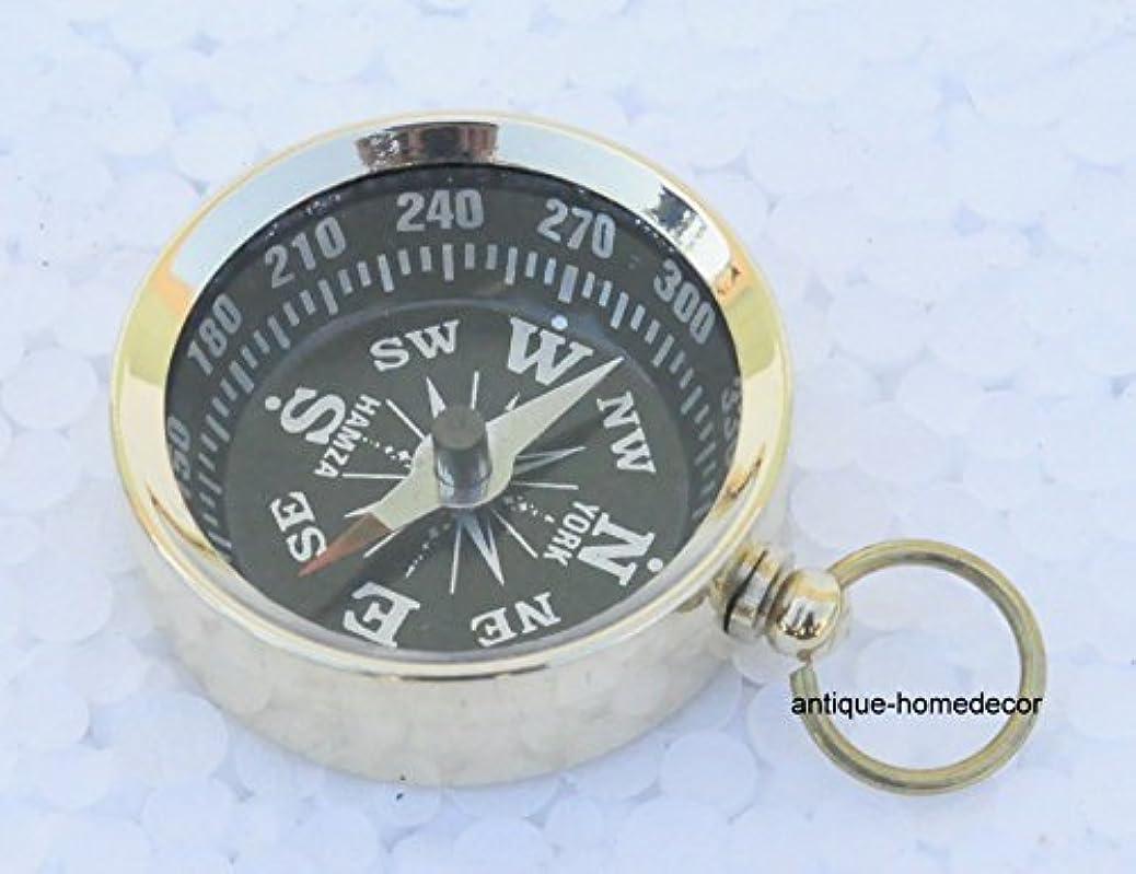 枯渇する進化充電NauticalギフトヴィンテージMaritime真鍮コンパスキーチェーンキーリング