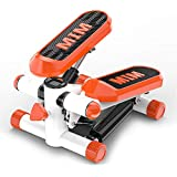 Mini Stepper Aerobic Exercise Burning Calories Adjustable Hydraulic Stepper Exercise Equipment with Resistance Bands & Mat Health Fitness