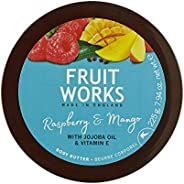 Grace Cole (England) Fruitworks Raspberry and Mango Body Butter, 225 g