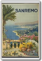 Sanremo, Italy, Europe - Vintage Travel Fridge Magnet - ?????????