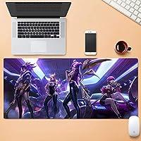 大Esportsもゲーム拡張コンピュータのキーボードマウスパッド防水デスクマット手書きパッド耐摩耗ステッチエッジ耐摩耗ラバーベース30x80cm HMMSP (Color : F, Size : 4mm)