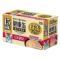 箱売り アイシア 15歳からの健康缶 まぐろ 40g×6P 猫 フード 1箱12個入 超高齢猫用
