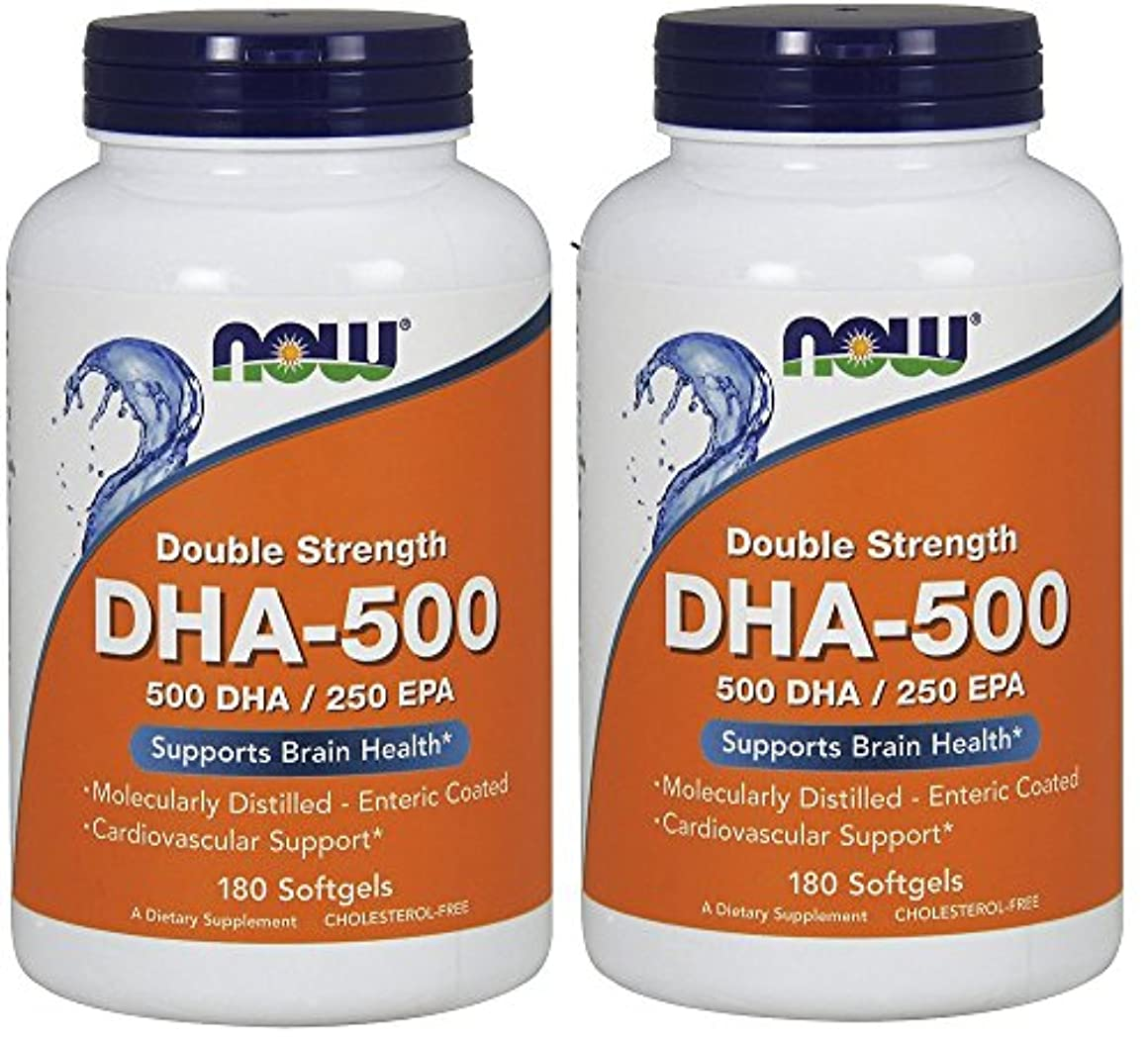 ダム危険参照[海外直送品] ナウフーズ  (2個セット)  DHA 180 Softgels 500 Mg